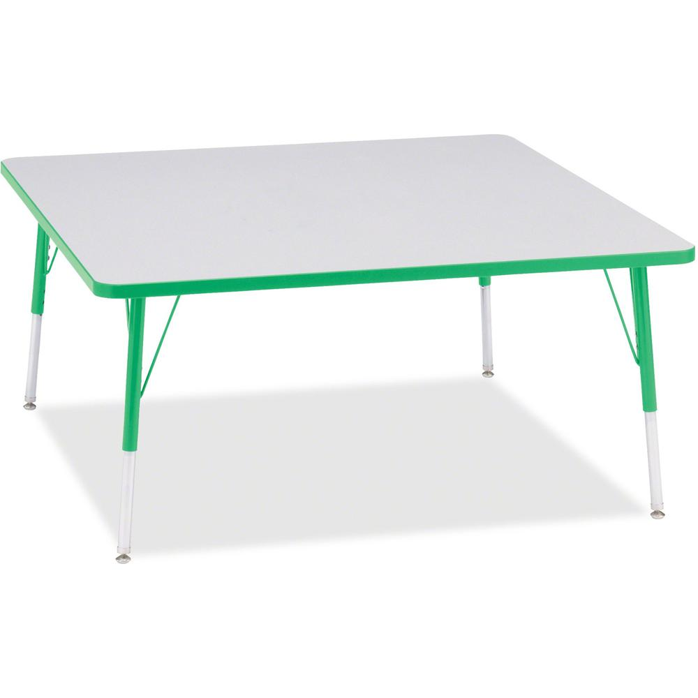 """Berries Adult Height Prism Color Edge Square Table - Green Square, Laminated Top - Four Leg Base - 4 Legs - 48"""" Table Top Length x 48"""" Table Top Width x 1.13"""" Table Top Thickness - 31"""" Height - Assemb. Picture 1"""