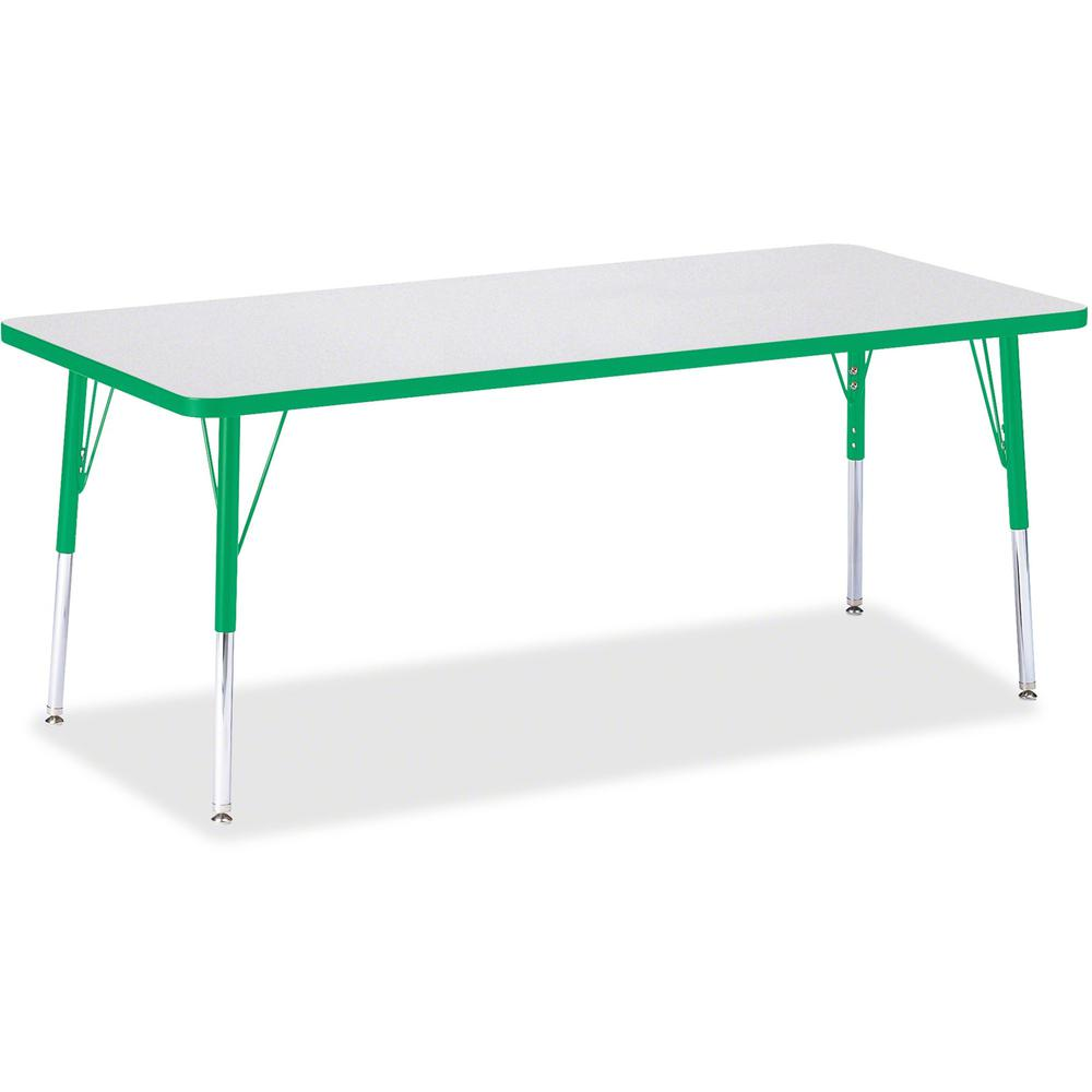 """Jonti-Craft Berries Elementary Height Color Edge Rectangle Table - Gray Rectangle Top - Four Leg Base - 4 Legs - 72"""" Table Top Length x 30"""" Table Top Width x 1.13"""" Table Top Thickness - 24"""" Height - A. Picture 1"""
