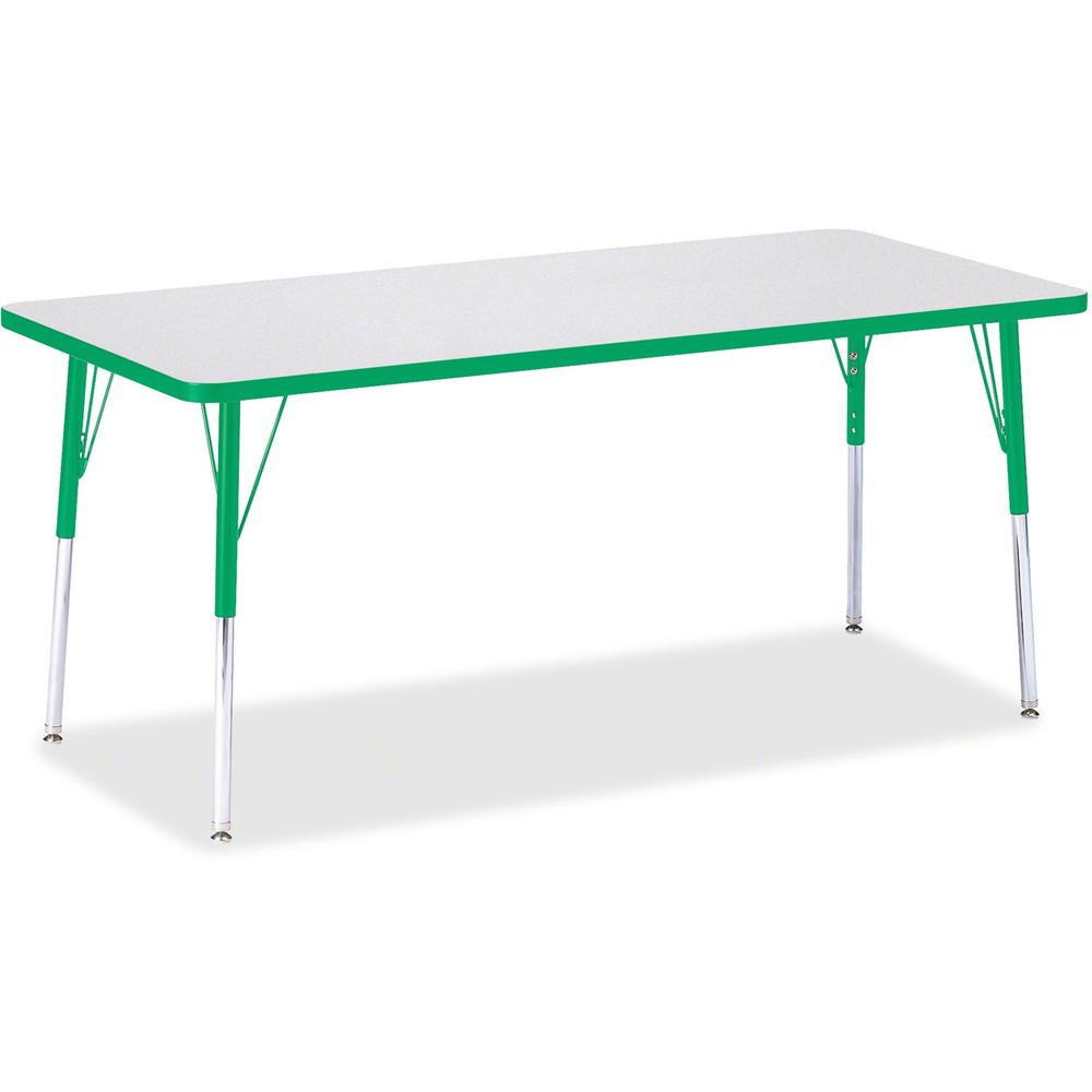 """Jonti-Craft Berries Adult Height Color Edge Rectangle Table - Green Rectangle, Laminated Top - Four Leg Base - 4 Legs - 72"""" Table Top Length x 30"""" Table Top Width x 1.13"""" Table Top Thickness - 31"""" Hei. Picture 1"""