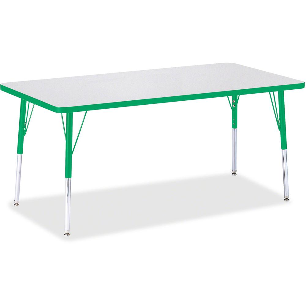 "Jonti-Craft Berries Adult Height Color Edge Rectangle Table - Green Rectangle, Laminated Top - Four Leg Base - 4 Legs - 60"" Table Top Length x 30"" Table Top Width x 1.13"" Table Top Thickness - 31"" Hei. Picture 1"