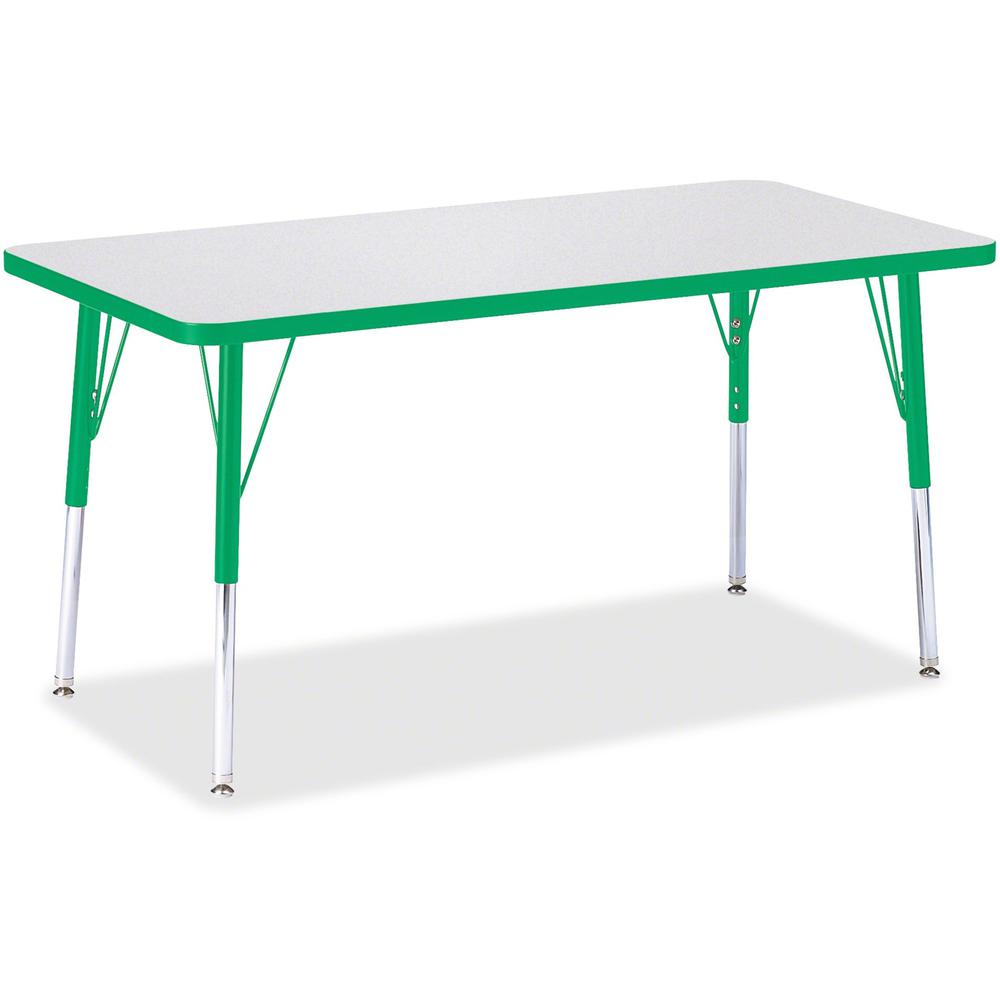 "Berries Adult Height Color Edge Rectangle Table - Green Rectangle, Laminated Top - Four Leg Base - 4 Legs - 48"" Table Top Length x 24"" Table Top Width x 1.13"" Table Top Thickness - 31"" Height - Assemb. Picture 1"