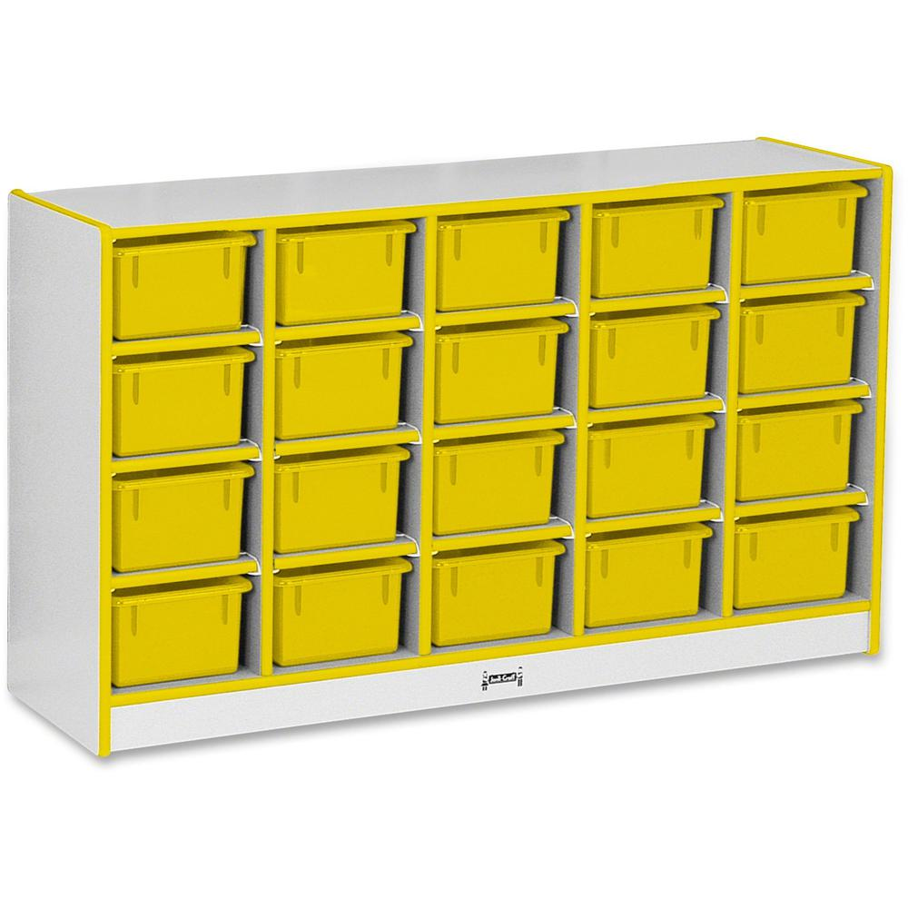 "Rainbow Accents Rainbow Accents Cubbie-trays Storage Unit - 29.5"" Height x 48"" Width x 15"" Depth - Yellow - Rubber - 1Each. Picture 1"