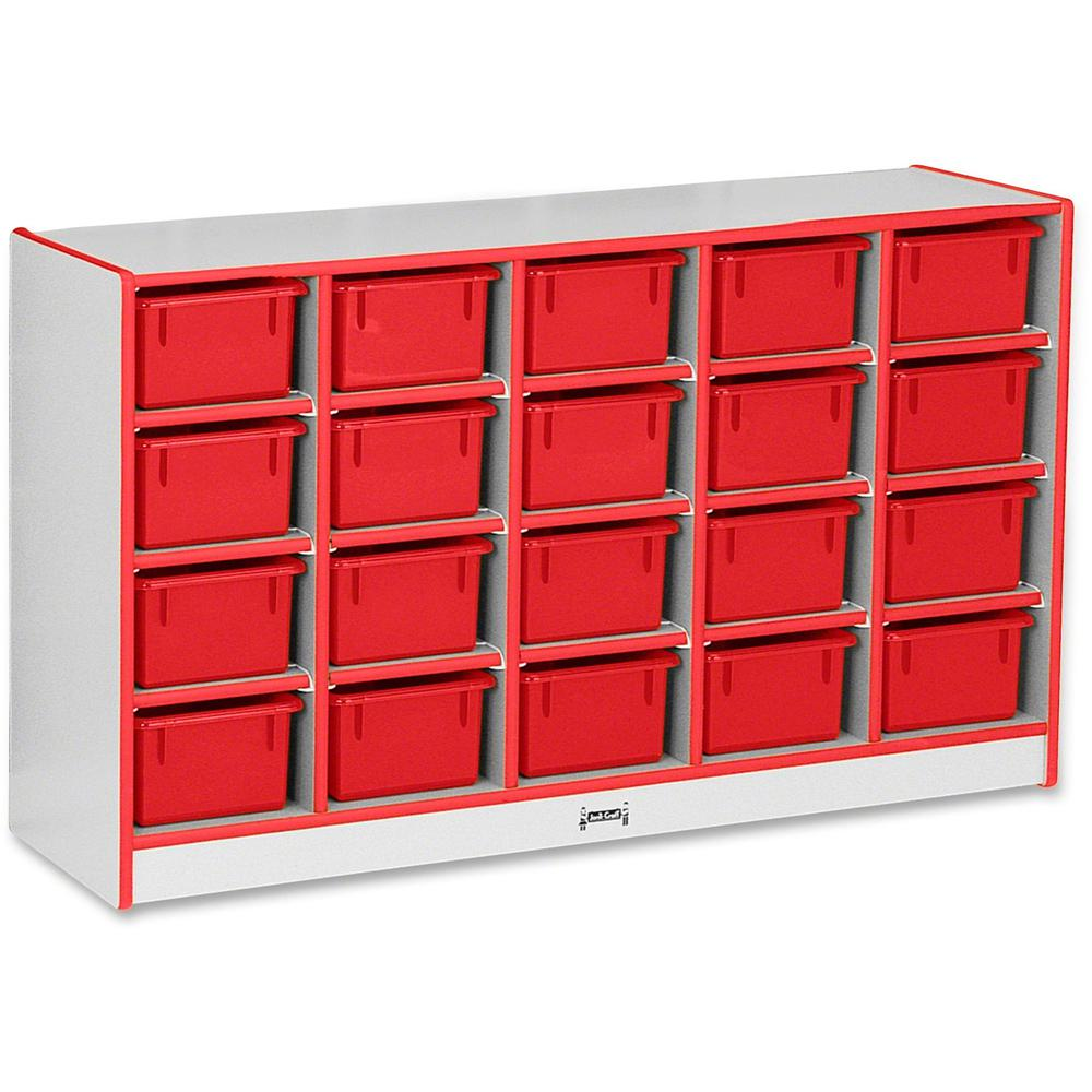 """Rainbow Accents Rainbow Accents Cubbie-trays Storage Unit - 29.5"""" Height x 48"""" Width x 15"""" Depth - Red - Rubber - 1Each. Picture 1"""