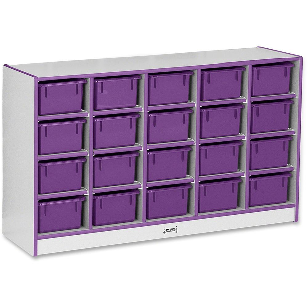 "Rainbow Accents Rainbow Accents Cubbie-trays Storage Unit - 29.5"" Height x 48"" Width x 15"" Depth - Purple - Rubber - 1Each. Picture 1"