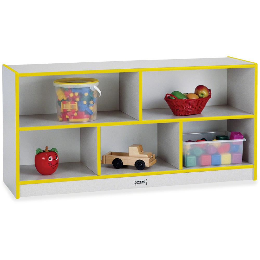 """Rainbow Accents Rainbow Low Open Single Storage Shelf - 29.5"""" Height x 48"""" Width x 15"""" Depth - Yellow - Rubber - 1Each. Picture 1"""