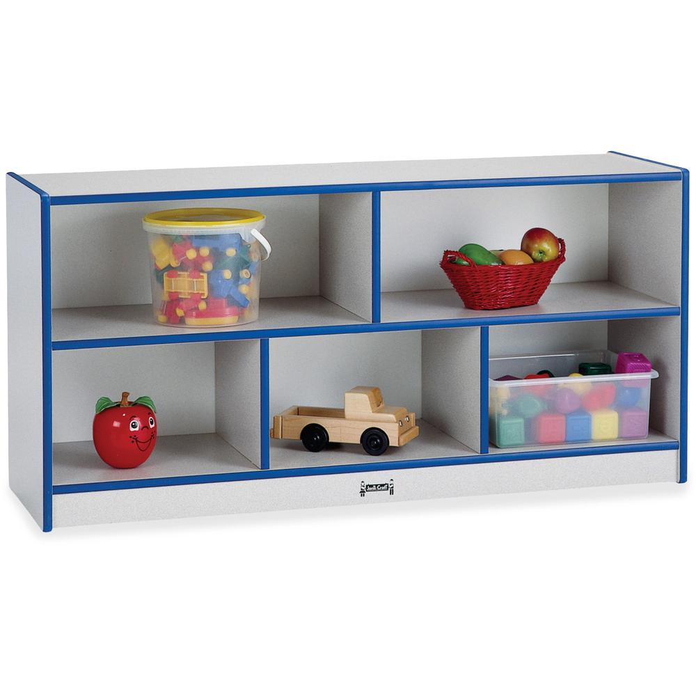 "Rainbow Accents Rainbow Low Open Single Storage Shelf - 29.5"" Height x 48"" Width x 15"" Depth - Blue - Rubber - 1Each. Picture 1"