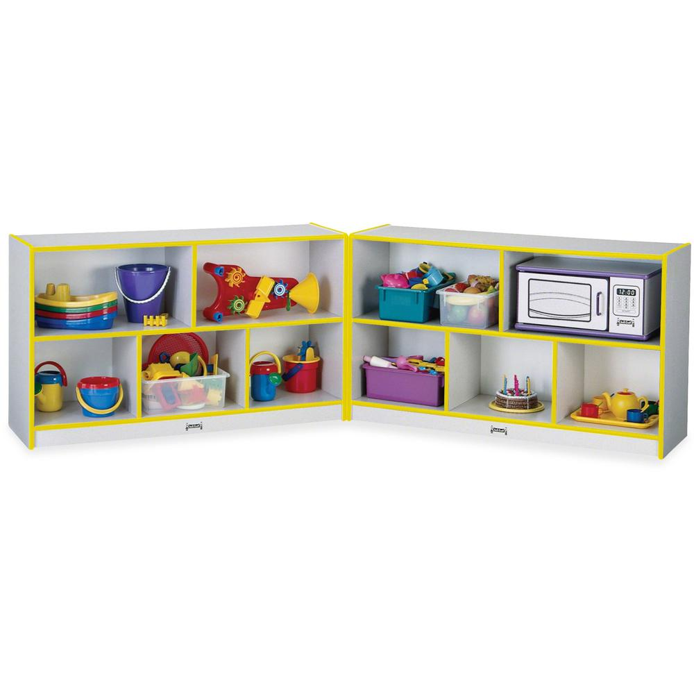"Rainbow Accents Fold-n-Lock Storage Shelf - 35.5"" Height x 96"" Width x 15"" Depth - Yellow - Hard Rubber - 1Each. Picture 1"