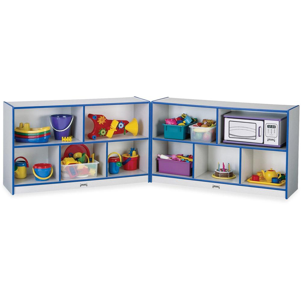 "Rainbow Accents Fold-n-Lock Storage Shelf - 35.5"" Height x 96"" Width x 15"" Depth - Blue - Hard Rubber - 1Each. Picture 1"