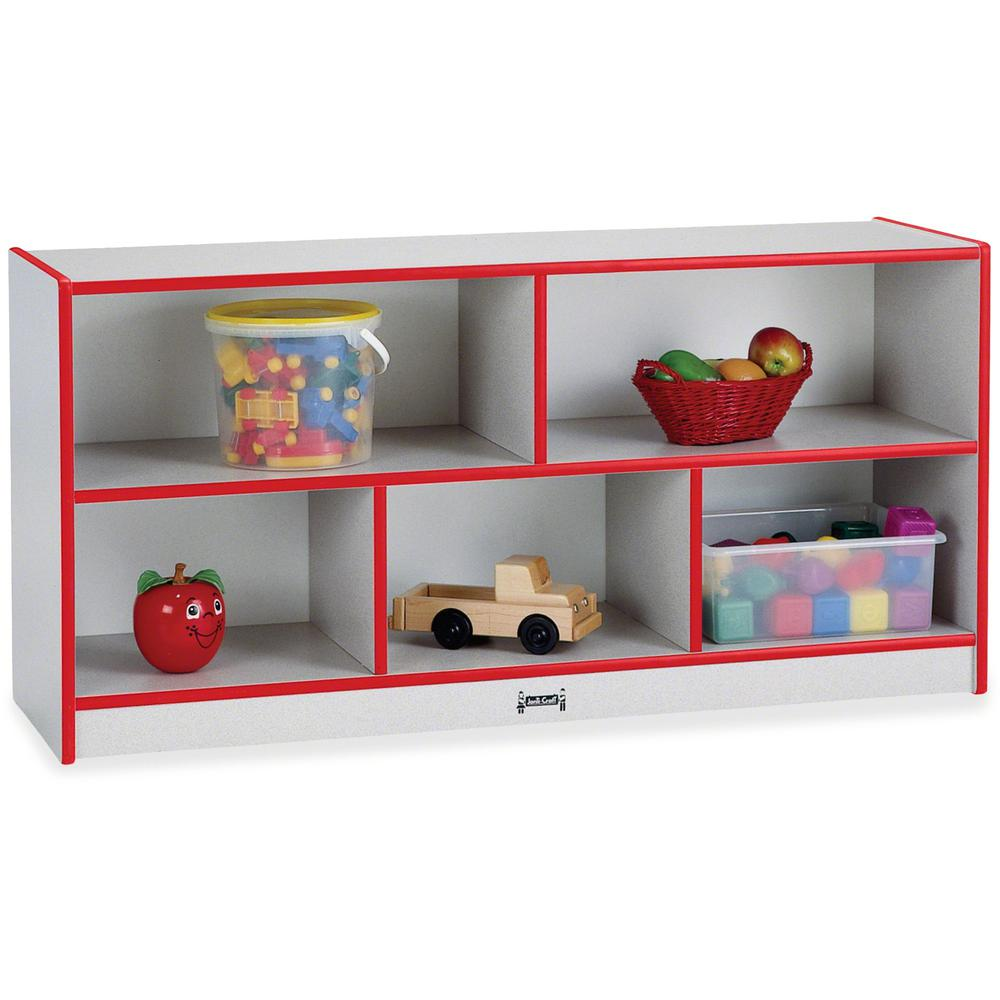 "Rainbow Accents Toddler Single Storage - 24.5"" Height x 48"" Width x 15"" Depth - Red - Rubber - 1Each. Picture 1"
