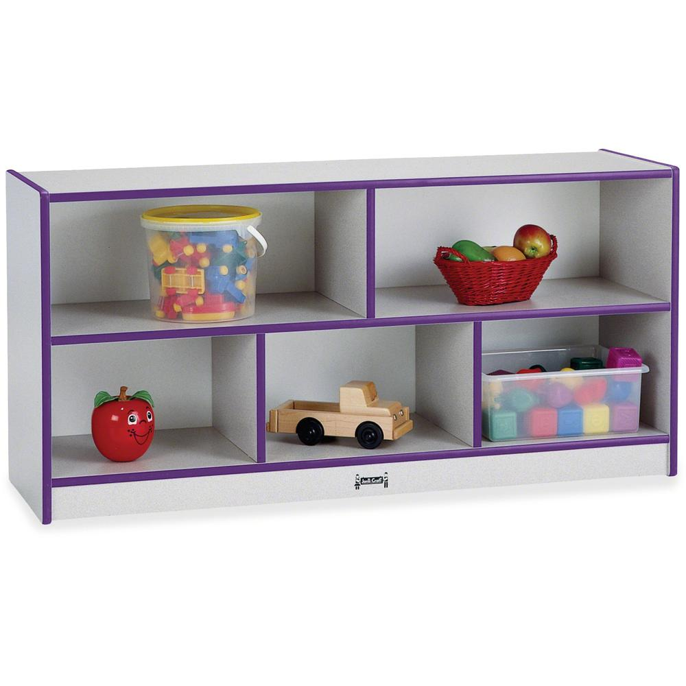 "Jonti-Craft Rainbow Accents Toddler Single Storage - 24.5"" Height x 48"" Width x 15"" Depth - Laminated, Durable - Purple - Rubber - 1 Each. Picture 1"