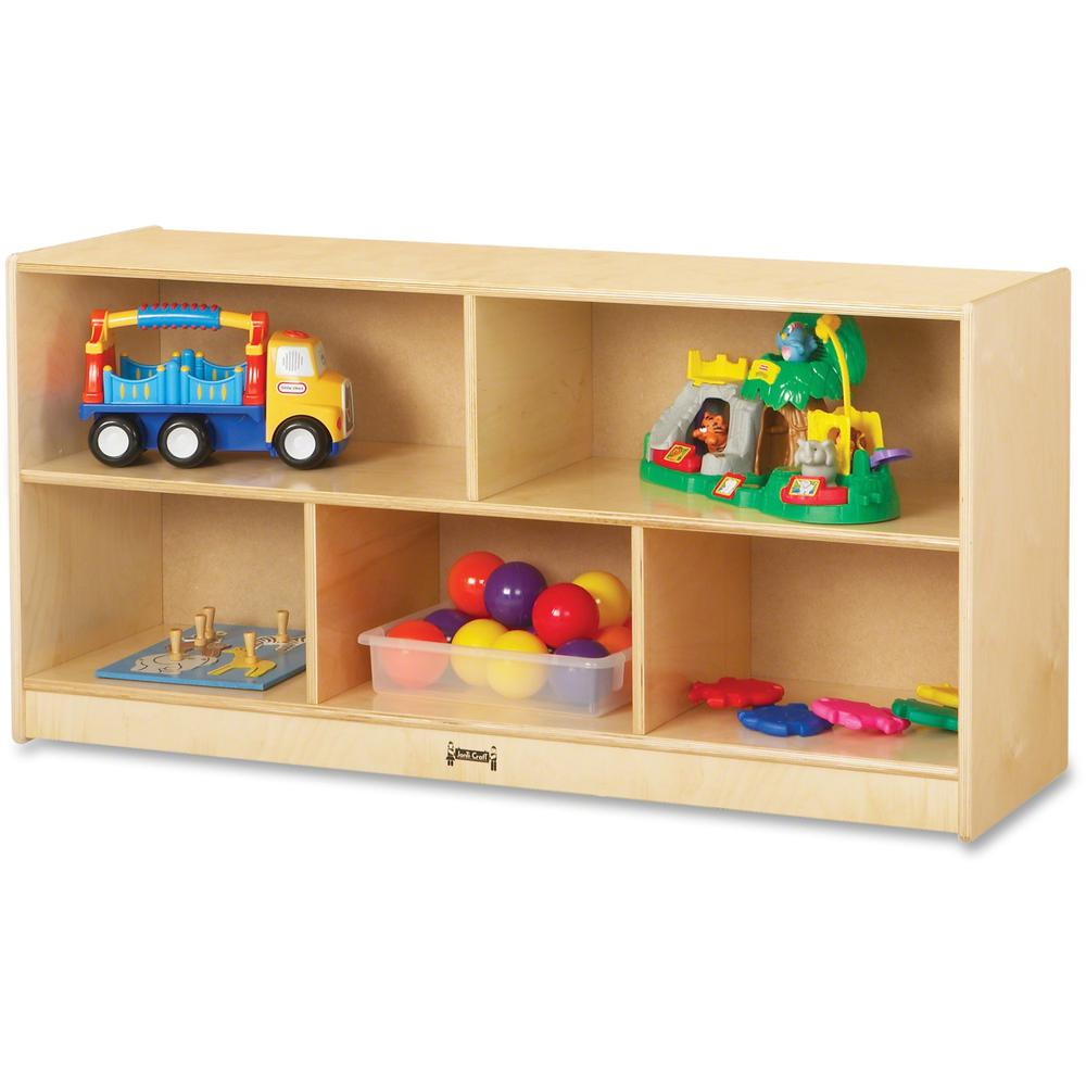 """Jonti-Craft Toddler Single Mobile Storage Unit - 5 Compartment(s) - 24.5"""" Height x 48"""" Width x 15"""" Depth - Baltic - Acrylic, Rubber - 1Each. Picture 1"""