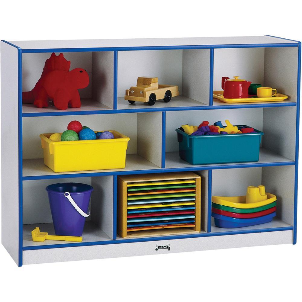 "Jonti-Craft Rainbow Super-sized Mobile Storage - 35.5"" Height x 48"" Width x 15"" Depth - Blue - Hard Rubber - 1Each. Picture 1"