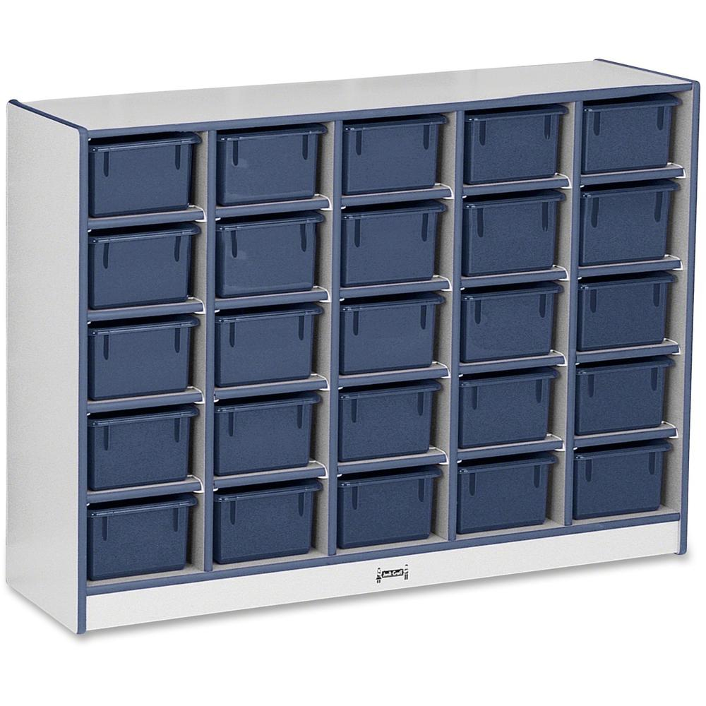 "Rainbow Accents Rainbow Accents Cubbie-trays Storage Unit - 25 Compartment(s) - 35.5"" Height x 48"" Width x 15"" Depth - Navy - Rubber - 1Each. Picture 1"