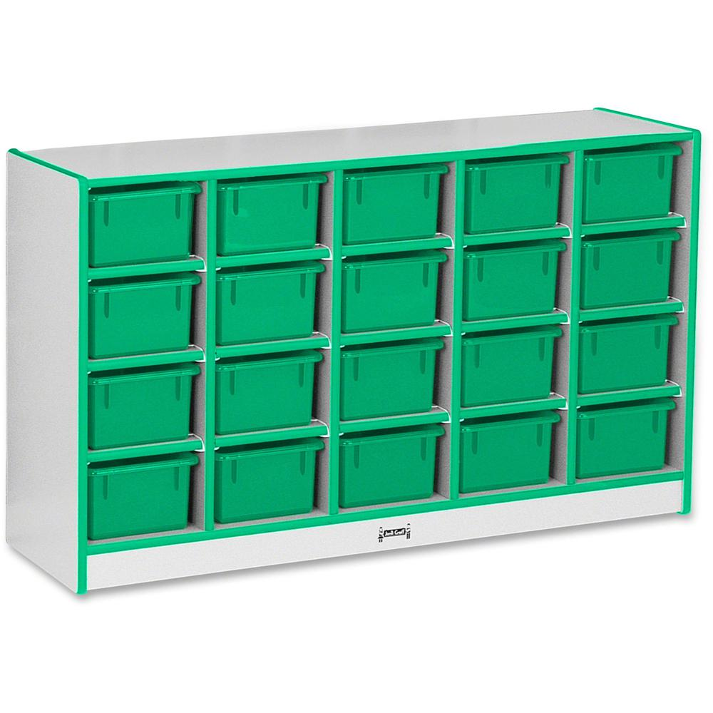 "Rainbow Accents Rainbow Accents Cubbie-trays Storage Unit - 29.5"" Height x 48"" Width x 15"" Depth - Green - Rubber - 1Each. Picture 1"