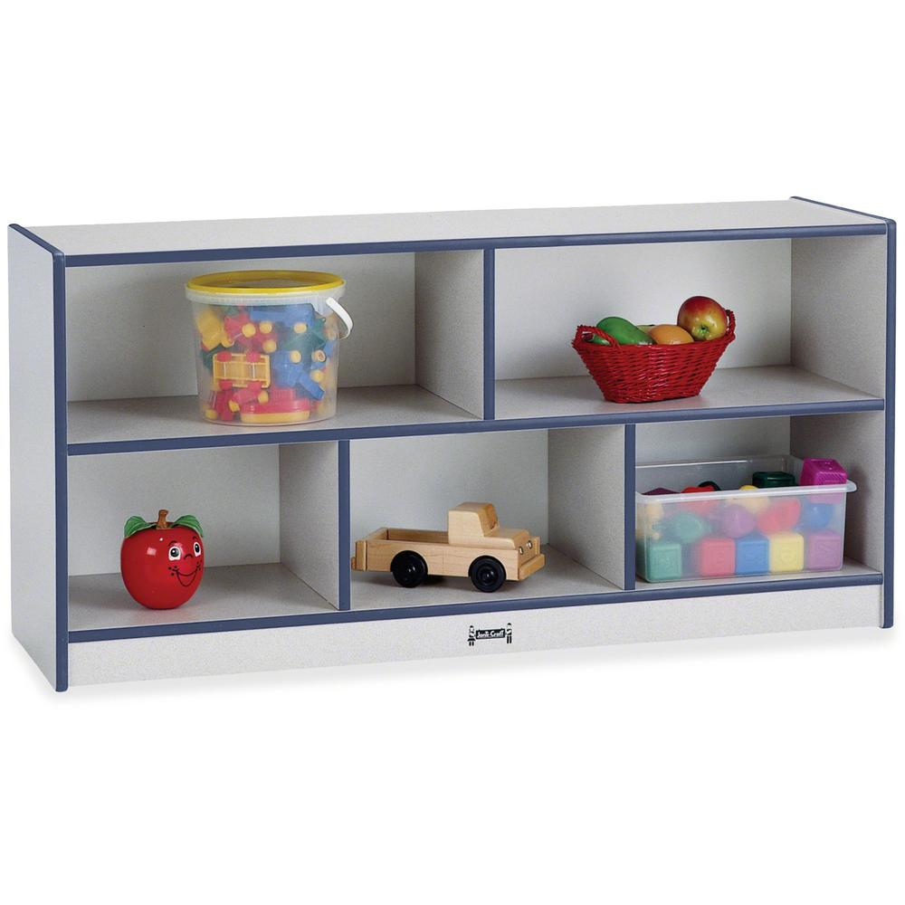 "Rainbow Accents Rainbow Low Open Single Storage Shelf - 29.5"" Height x 48"" Width x 15"" Depth - Navy - Rubber - 1Each. Picture 1"