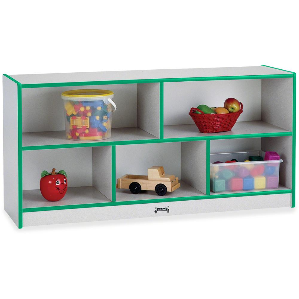 "Rainbow Accents Rainbow Low Open Single Storage Shelf - 29.5"" Height x 48"" Width x 15"" Depth - Green - Rubber - 1Each. Picture 1"