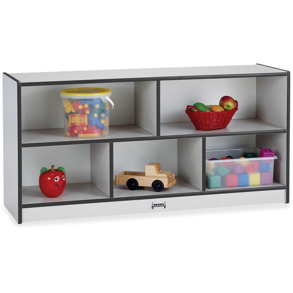 """Rainbow Accents Toddler Single Storage - 24.5"""" Height x 48"""" Width x 15"""" Depth - Black - Rubber - 1Each. Picture 1"""