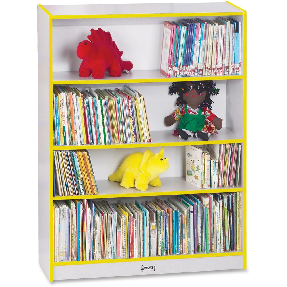 """Rainbow Accents 48"""" Bookcase - 48"""" Height x 36.5"""" Width x 11.5"""" Depth - Yellow - 1Each. Picture 1"""