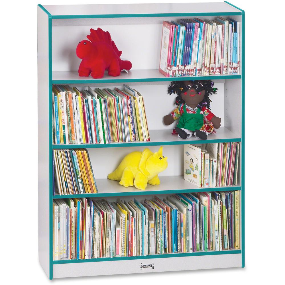 """Rainbow Accents 48"""" Bookcase - 48"""" Height x 36.5"""" Width x 11.5"""" Depth - Teal - 1Each. Picture 1"""