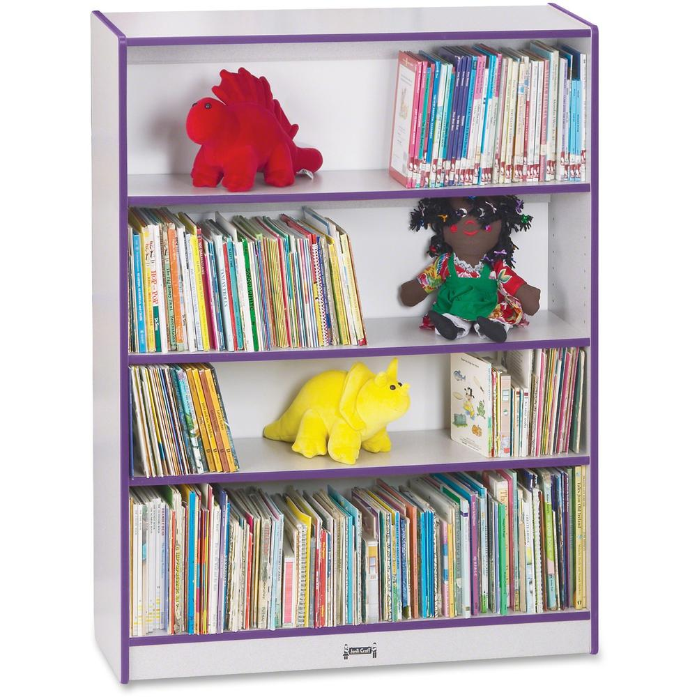 """Rainbow Accents 48"""" Bookcase - 48"""" Height x 36.5"""" Width x 11.5"""" Depth - Purple - 1Each. Picture 1"""