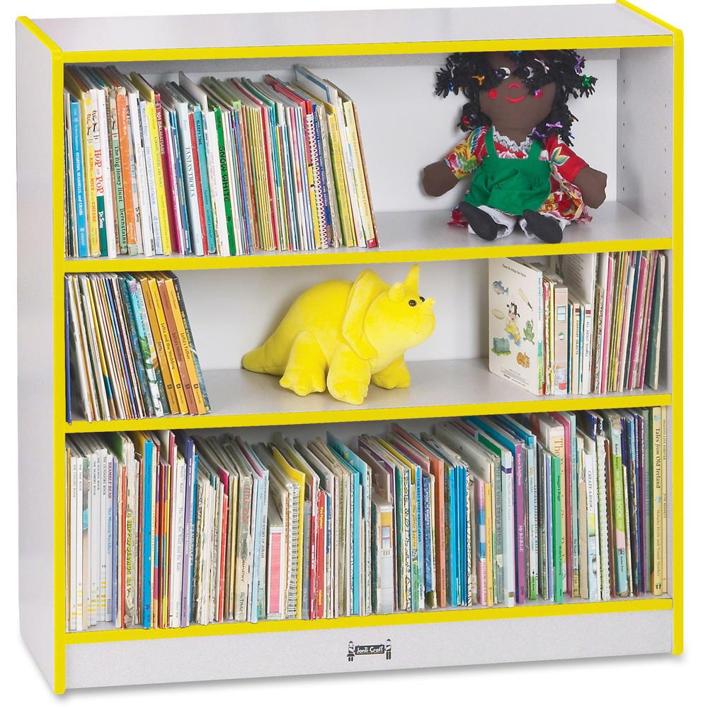 "Rainbow Accents 36"" Bookcase - 36"" Height x 36.5"" Width x 11.5"" Depth - Yellow - 1Each. Picture 1"