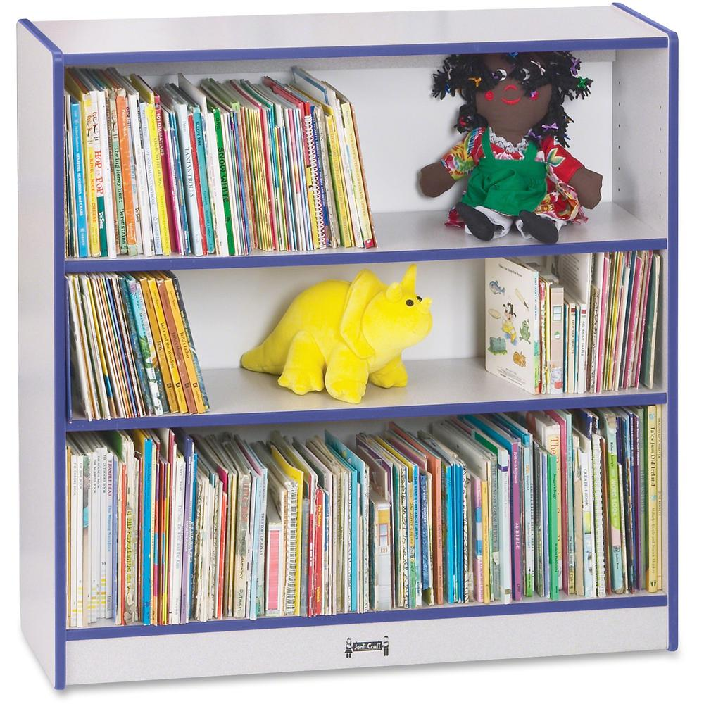 """Rainbow Accents 36"""" Bookcase - 36"""" Height x 36.5"""" Width x 11.5"""" Depth - Blue - 1Each. Picture 1"""