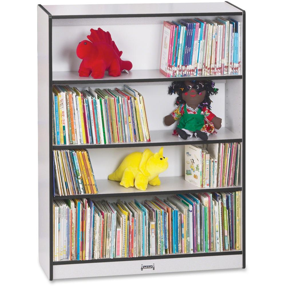 """Rainbow Accents 48"""" Bookcase - 48"""" Height x 36.5"""" Width x 11.5"""" Depth - Black - 1Each. Picture 1"""