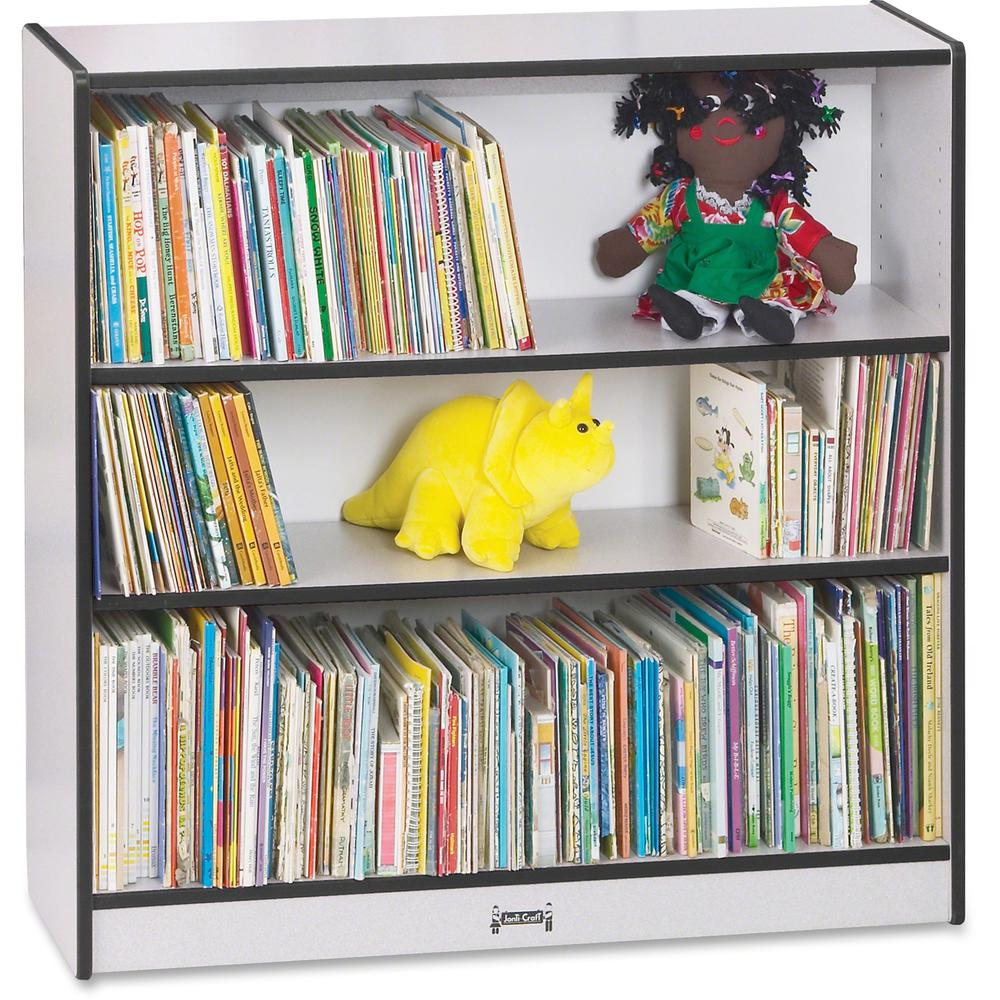 """Rainbow Accents 36"""" Bookcase - 36"""" Height x 36.5"""" Width x 11.5"""" Depth - Black - 1Each. Picture 1"""