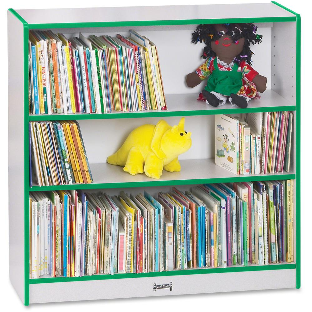 "Rainbow Accents 36"" Bookcase - 36"" Height x 36.5"" Width x 11.5"" Depth - Green - 1Each. Picture 1"