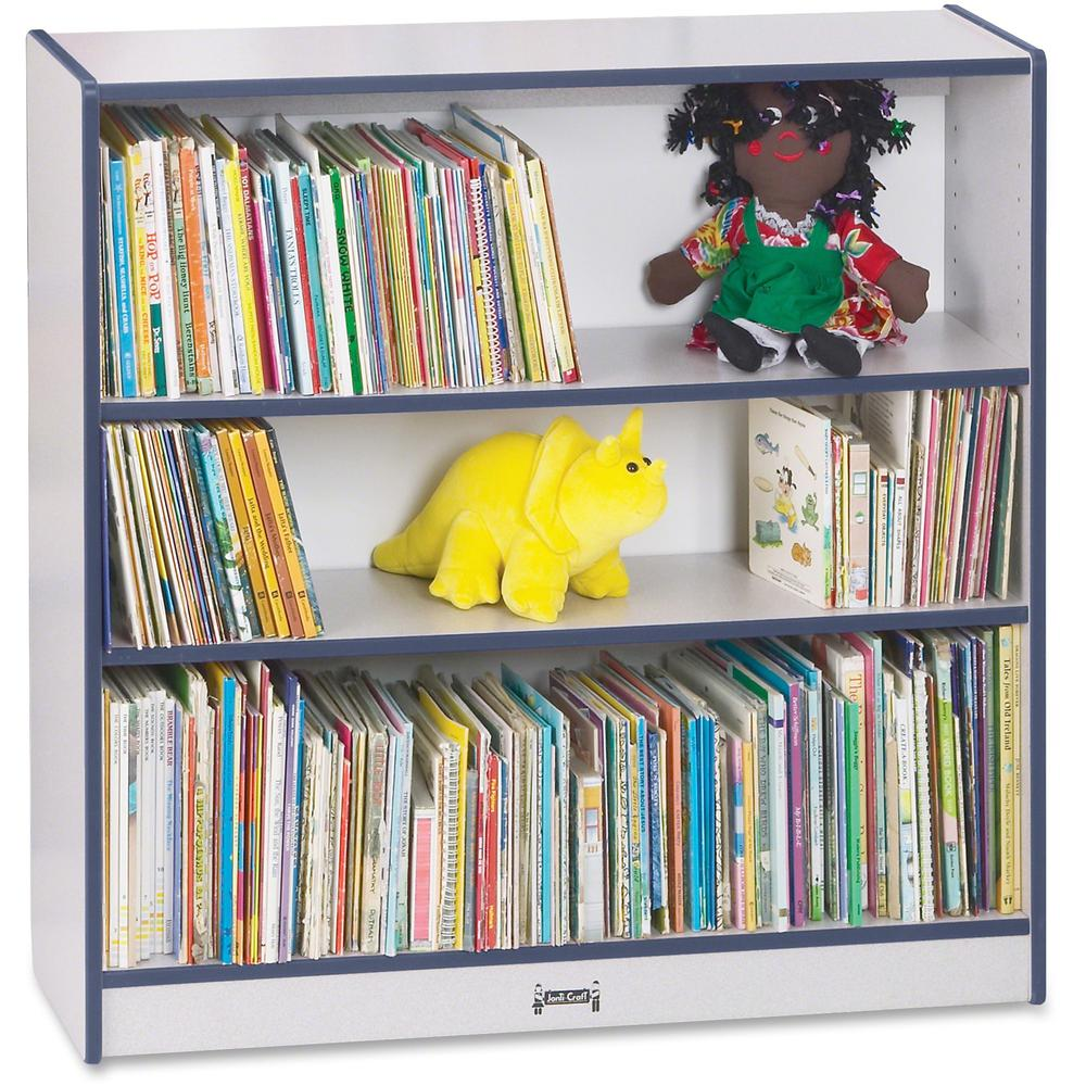 """Rainbow Accents 36"""" Bookcase - 36"""" Height x 36.5"""" Width x 11.5"""" Depth - Navy - 1Each. Picture 1"""