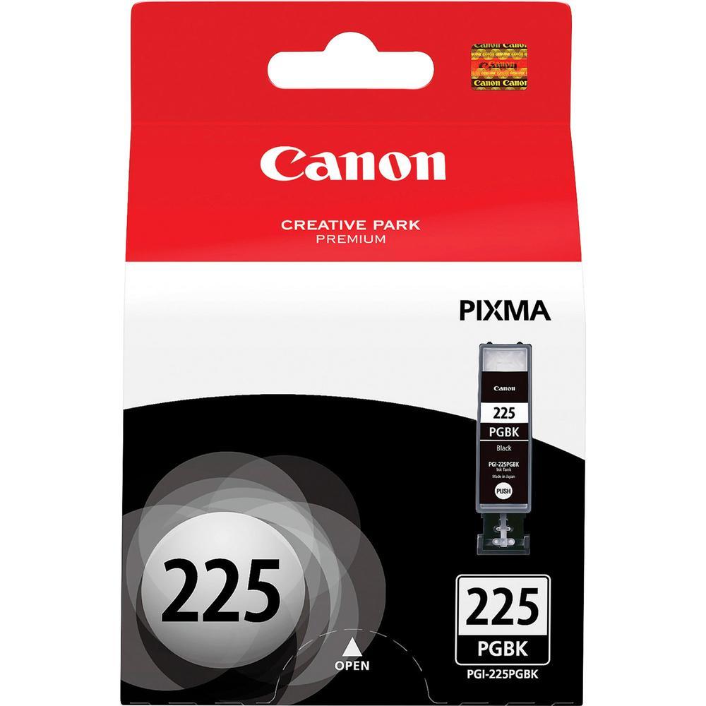 Canon PGI-225BK Original Ink Cartridge - Inkjet - 341 Pages - Black - 1 Each. Picture 1