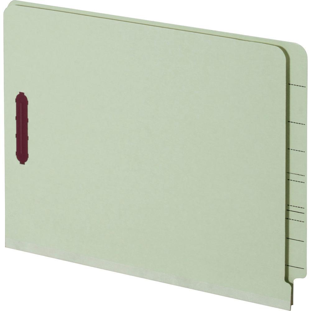 """Pendaflex Letter Recycled Fastener Folder - 8 1/2"""" x 11"""" - 2 Fastener(s) - 2"""" Fastener Capacity for Folder - Pressboard - Light Green - 60% - 25 / Box. Picture 1"""