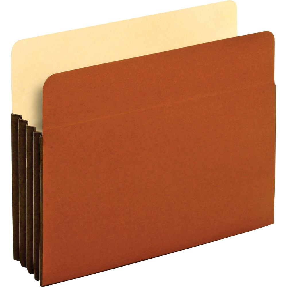 """Pendaflex Letter Recycled Expanding File - 8 1/2"""" x 11"""" - 800 Sheet Capacity - 3 1/2"""" Expansion - Top Tab Location - Redrope - Brown - 10% - 10 / Box. Picture 1"""