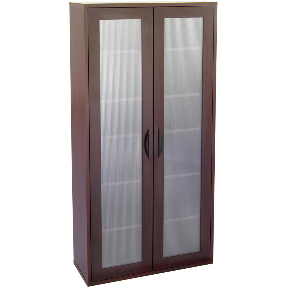 """Safco Après Modular Storage Tall Cabinet - 29.8"""" x 11.8"""" x 59.5"""" - 5 x Shelf(ves) - 75 lb Load Capacity - Mahogany - Wood - Assembly Required. Picture 2"""
