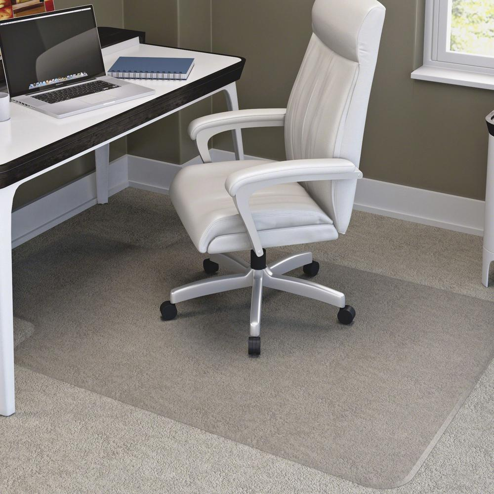 """Deflecto RollaMat for Carpet - Home, Office, Carpet - 60"""" Length x 46"""" Width - Lip Size 12"""" Length x 25"""" Width - Rectangle - Textured - Vinyl - Clear. Picture 1"""