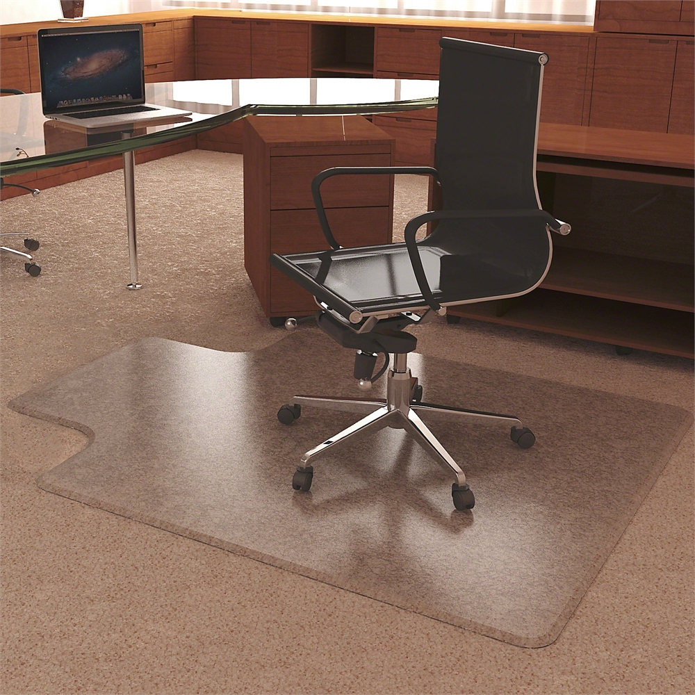 deflect o ultramat high pile free clear chairmat carpeted floor 53