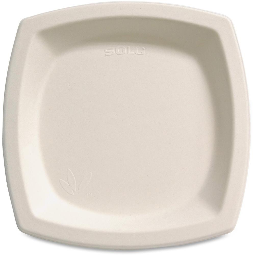 """Solo Cup Bare Sugar Cane Plates - 6.70"""" Diameter Plate - Off White - 125 Piece(s) / Pack. Picture 1"""