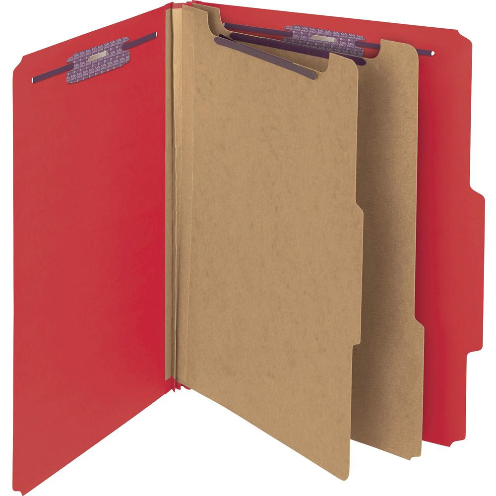 """Smead Press Guard Classification Folders with SafeSHIELD Coated Fastener Technology - Letter - 8 1/2"""" x 11"""" Sheet Size - 2"""" Expansion - 2 x 2S Fastener(s) - 2"""" Fastener Capacity for Folder, 1"""" Fastene. Picture 1"""