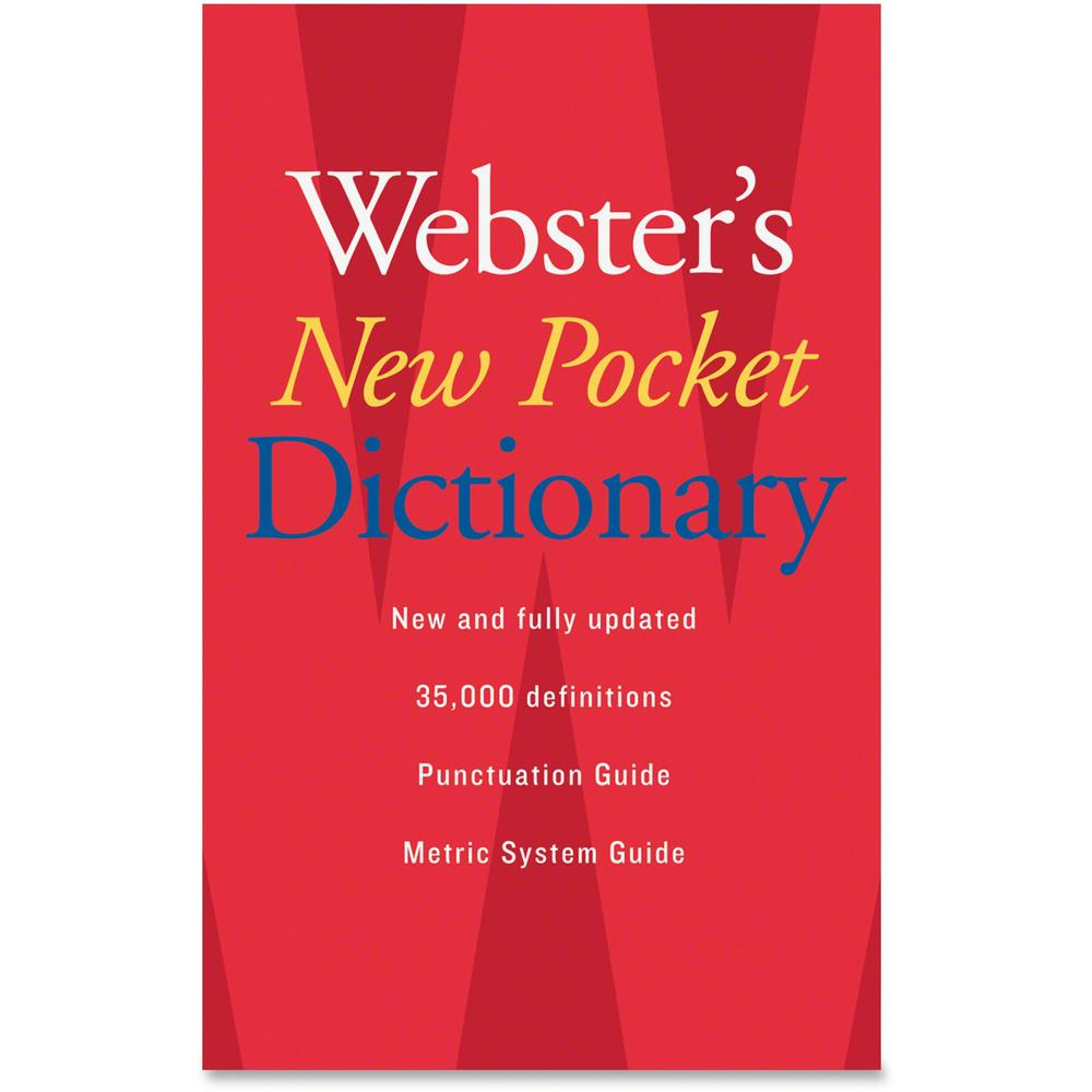 Houghton Mifflin Webster's New Pocket Dictionary Printed Book - August 2007 - Book - English. Picture 1