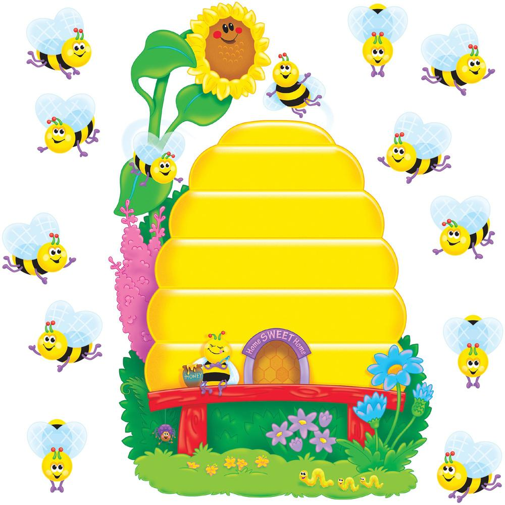 Trend Busy Bees Job Chart Bulletin Board Set   36 (Bee, Beehive) Shape    Multicolor   1 Set