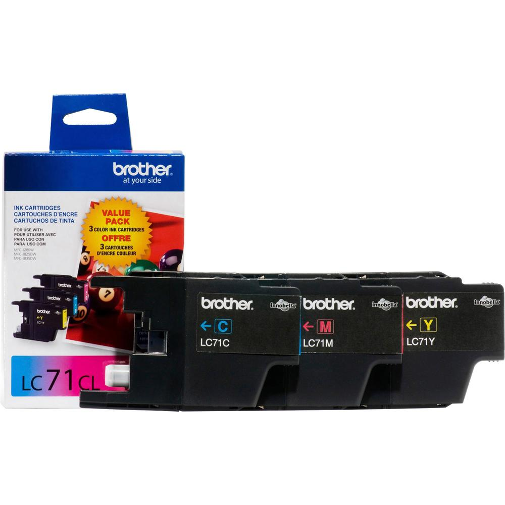 Brother Innobella LC713PKS Original Ink Cartridge - Inkjet - 300 Pages Cyan, 300 Pages Yellow, 300 Pages Magenta - Cyan, Yellow, Magenta - 3 / Pack. Picture 1