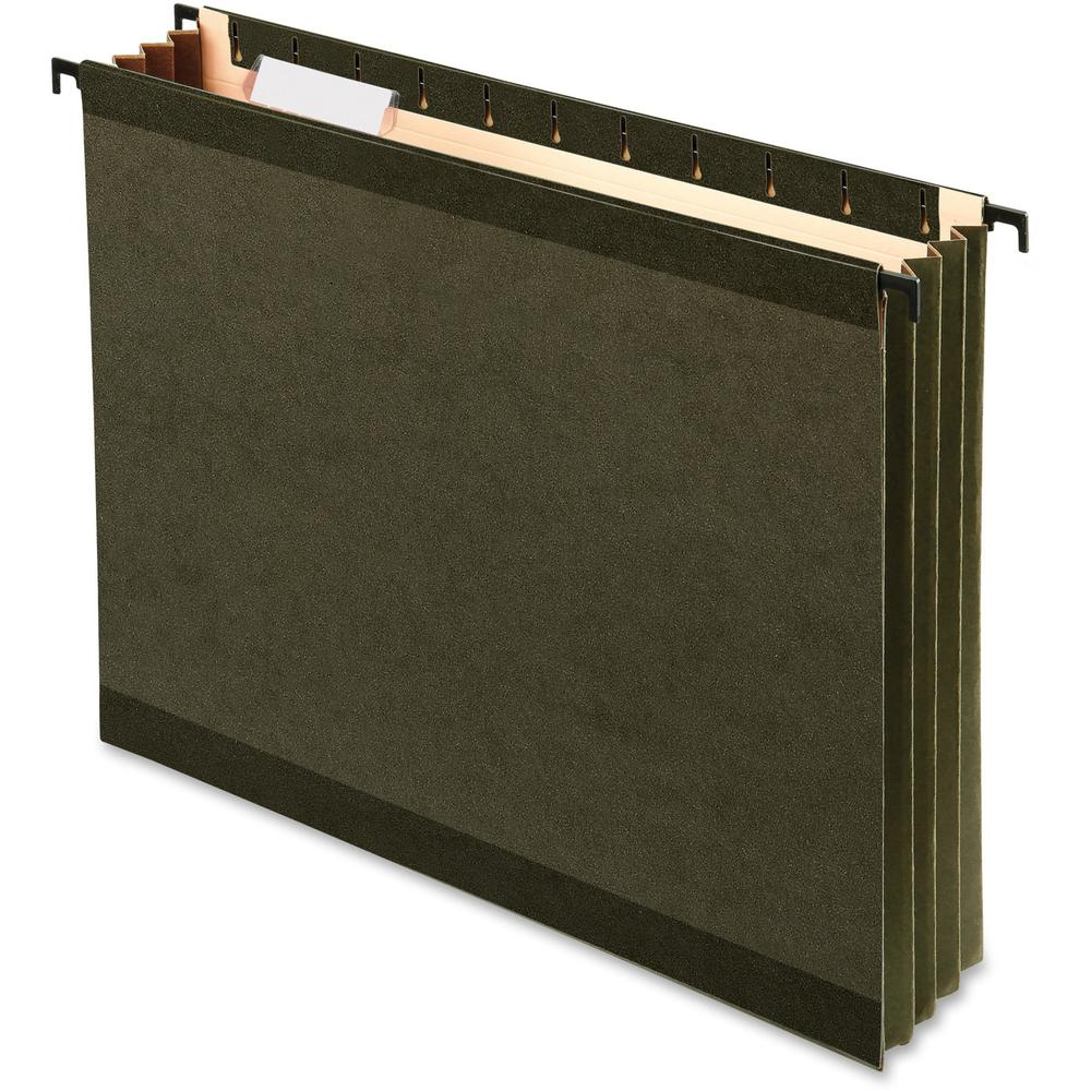 """Pendaflex SureHook Letter Recycled Hanging Folder - 3 1/2"""" Folder Capacity - 8 1/2"""" x 11"""" - 3 1/2"""" Expansion - Poly - Standard Green - 10% - 4 / Pack. Picture 1"""