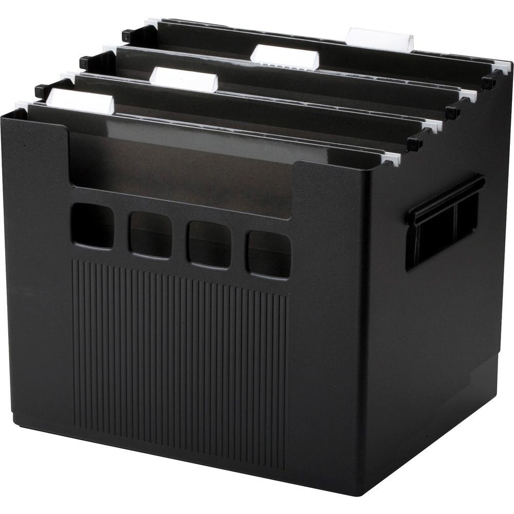 "Pendaflex SuperDecoFlex Desktop Files - External Dimensions: 12.8"" Width x 10"" Depth x 11""Height - Media Size Supported: Letter - Plastic - Black - For Hanging Folder - 1 Each. Picture 1"