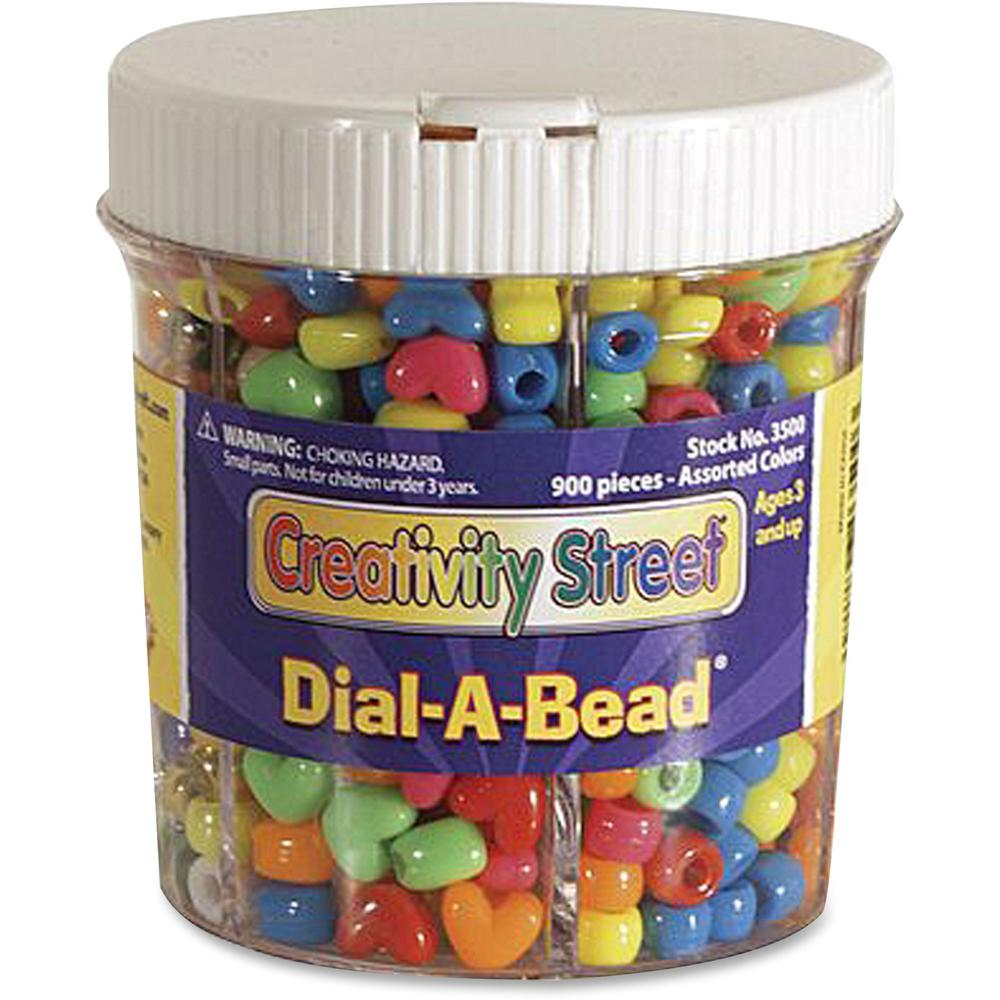 Creativity Street Dial-A-Bead Jar Assortment - Recommended For 3 Year - 900 Piece(s) - 900 / Each - Assorted. Picture 1