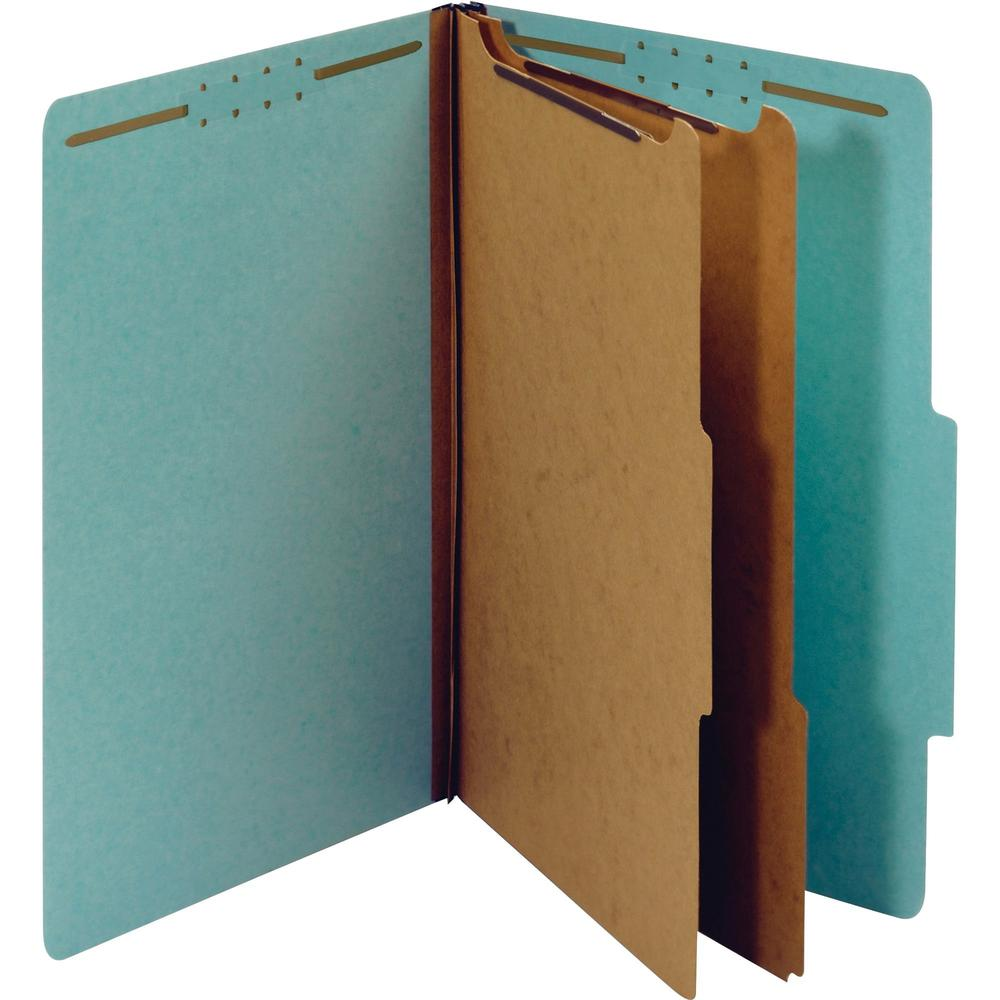 """Pendaflex 2-divider Recycled Classification Folders - Legal - 8 1/2"""" x 14"""" Sheet Size - 2 1/2"""" Expansion - 6 Fastener(s) - 2"""" Fastener Capacity for Folder, 1"""" Fastener Capacity for Divider - 2/5 Tab C"""