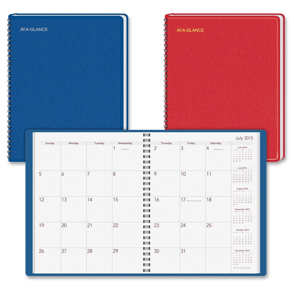 At A Glance Academic Year Fashion Monthly Planner July