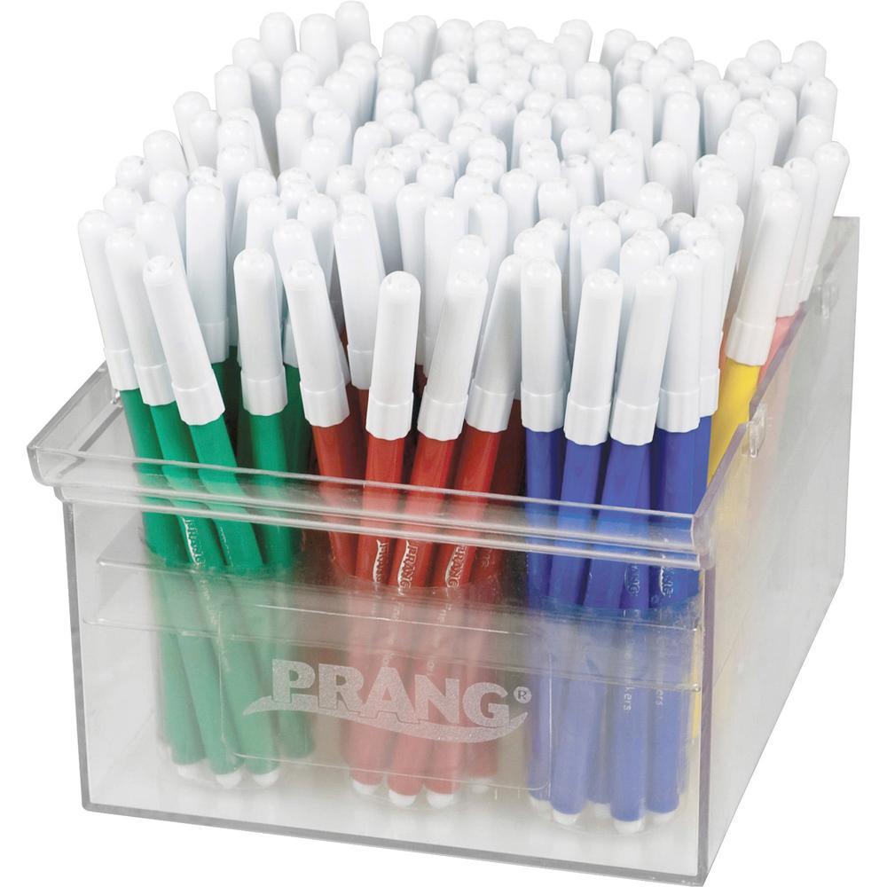 Prang Fineline Art Markers - Fine Marker Point - Red, Blue, Green, Yellow, Orange, Brown, Black, Purple, Gray, Pink, Light Blue, ... - 144 / Set. Picture 1