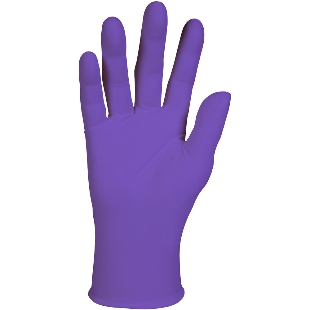 """Kimberly-Clark Purple Nitrile Exam Gloves - 9.5"""" - Medium Size - Nitrile - Purple - Latex-free, Powder-free, Textured Fingertip, Beaded Cuff, Ambidextrous, Non-sterile - For Healthcare Working - 100 /. Picture 1"""