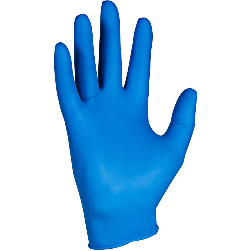 KleenGuard G10 Nitrile Gloves - Large Size - Nitrile - Arctic Blue - Latex-free, Powder-free, Textured Fingertip, Ambidextrous, Beaded Cuff, Comfortable - For Industrial, Food Handling, Electrical Con. Picture 1