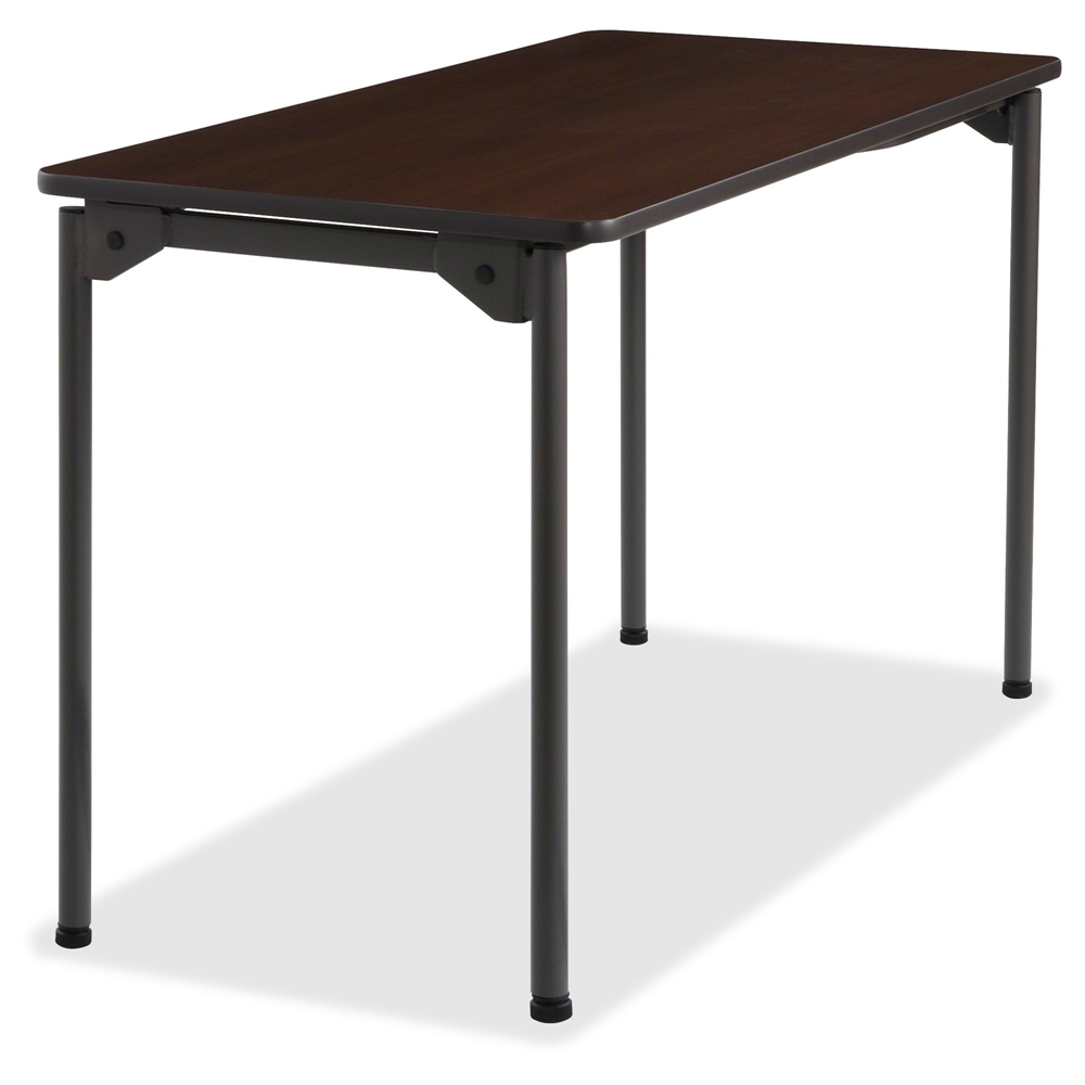 Iceberg maxx legroom wood folding table rectangle top for 10 by 10 table